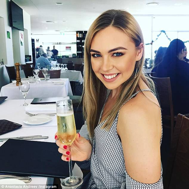 The 22-year-old, who is from Sydney (pictured), swears by a 'versatile' wardrobe and Estee Lauder's Double Wear foundation - which she said 'stays put for 24 hours'