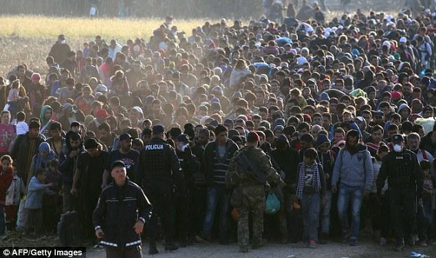 La mayoría de los que cruzaron la ruta de los Balcanes pasaron por el estado sureño de Seehofer, en Baviera, a veces más de 10.000 al día, provocando una fuerte reacción violenta en la región.  En la foto: migrantes que caminan cerca de la frontera croata-eslovena en octubre de 2015