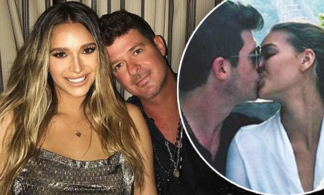 April Love Geary Wishes Babydaddy Robin Thicke Happy