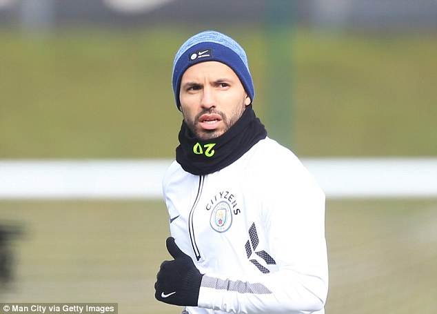 Striker Sergio Aguero will miss Manchester City's game at Stoke on Monday with a knee injury