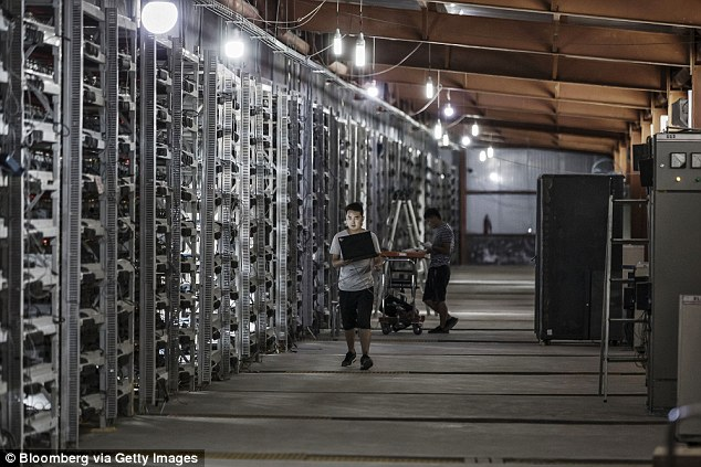 This new rush is a source of both excitement and anxiety for residents of these towns, who worry about tying their economy so tightly with an industry as new and complex as this one.(pictured is a cryptocurrency mine in China)