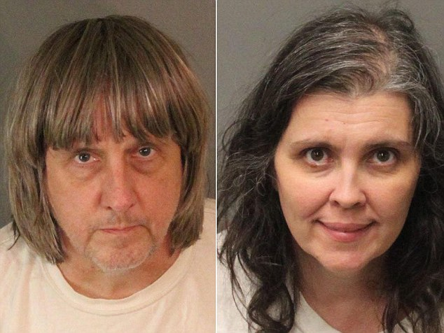 The couple were arrested in January after their 17-year-old daughter escaped from the family home in Perris, California, and called 911 on a deactivated phone