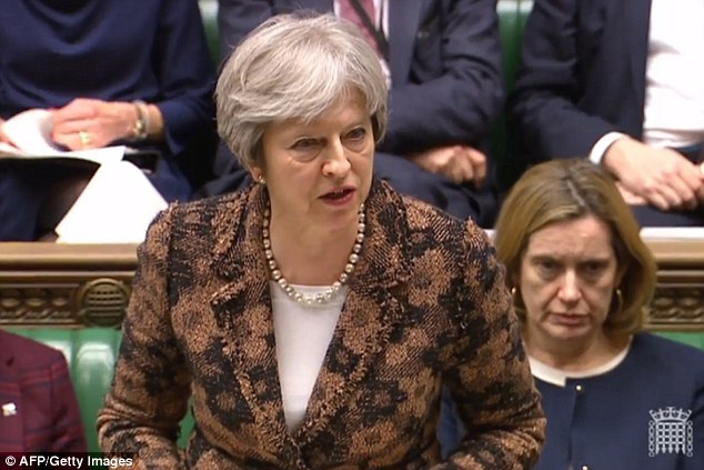 Theresa May said it was 'highly likely' that Russia was responsible for a spy attack in Salisbury
