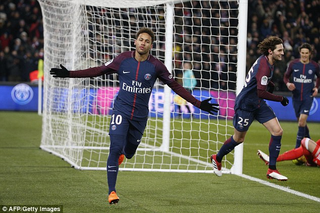 Neymar was tipped for the honour after another impressive month with PSG