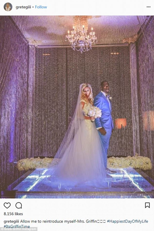 They're married!NFL star Robert Griffin III pulled out all the stops for his wedding. On Saturday the NFL star, 28, tied the knot with his lady love Grete Šadeiko, 24, in Miami in front of over 100 pals
