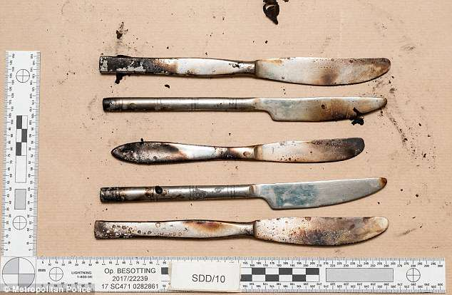 These household knives were also found inside it after Hassan viewed a YouTube bomb video