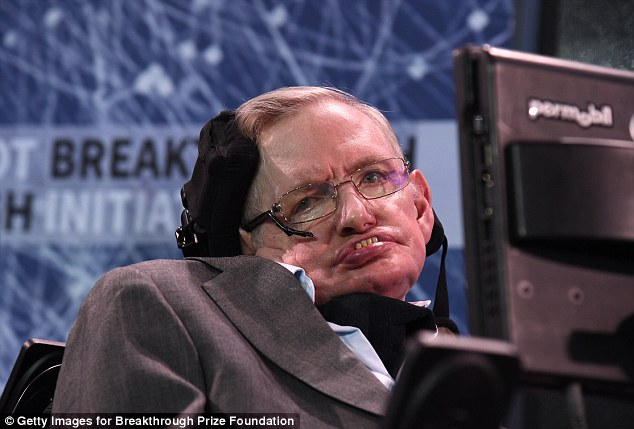 Hawking, CH, CBE, FRS, Dennis Stanton Avery and Sally Tsui Wong-Avery Director of Research, University of Cambridge as he and Yuri Milner host press conference to announce Breakthrough Starshot, a new space exploration initiative, at One World Observatory on April 12, 2016 in New York City
