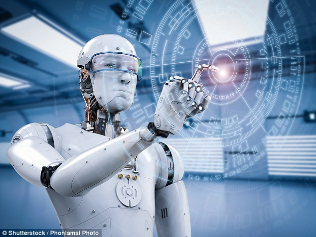 Hawking even went so far as to say that AI may replace humans altogether, although he didn't specify a timeline for his predictions (stock image)