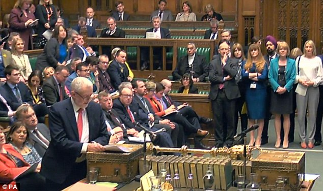Labour moderates queued up to back the PM's tough words and actions in the Commons yesterday - and take a swipe at Mr Corbyn's stance