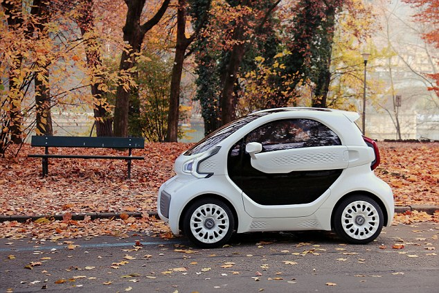 LSEV (pictured) is an electric car produced mostly by 3D printing by a Hong Kong start-up firm