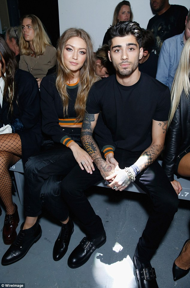 Way back when: Zayn and Gigi announced the split on Tuesday (pictured together in September)