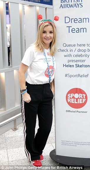 Ms Skelton (pictured today at Gatwick Aiport), who stars in BBC1's Countryfile and fronts the BBC 's swimming coverage, said the incident happened during a sporting event in 2015