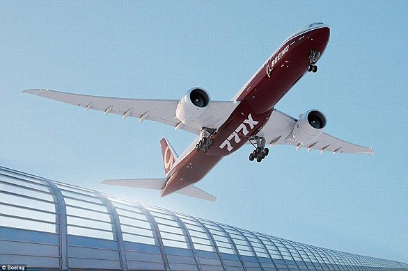 Boeing's new 777X airliner takes off on the first flight