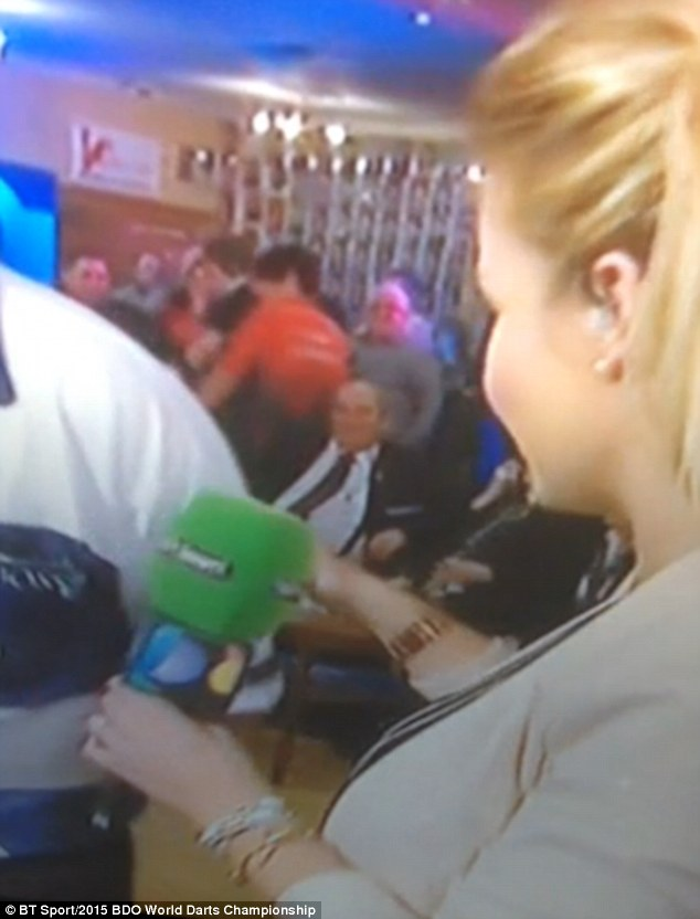 A video posted online at the time appears to show Ms Skelton looking irked, after Mr Montgomery touches her behind