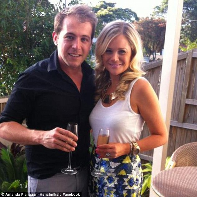 In 2011 he was awarded an interim apprehended violence order against his next-door neighbour after he allegedly threatened to plant a bomb in Mr Hansimikali's car (Evan and Amanda Hansimikali pictured)