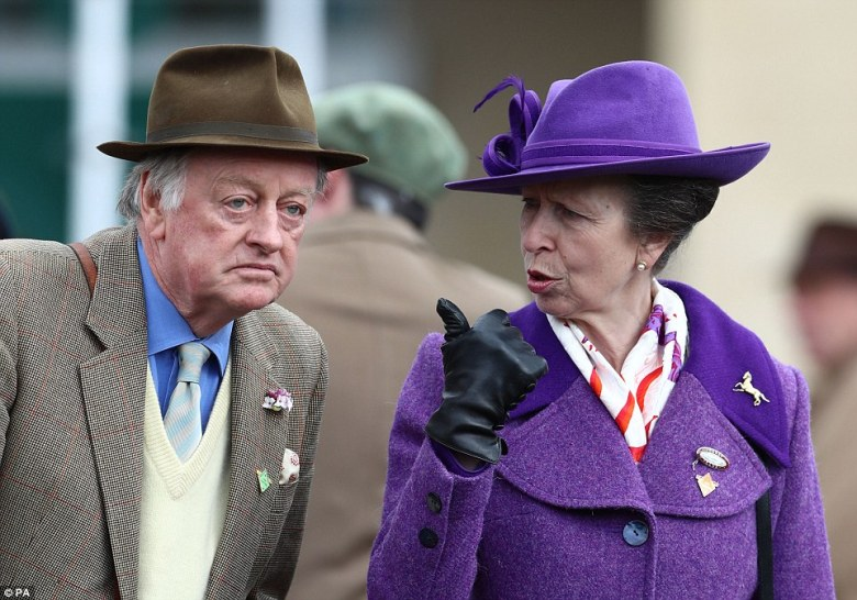 An animated Princess Anne who is a lifelong equestrian fan, appeared to be in her element as she enjoyed the festival