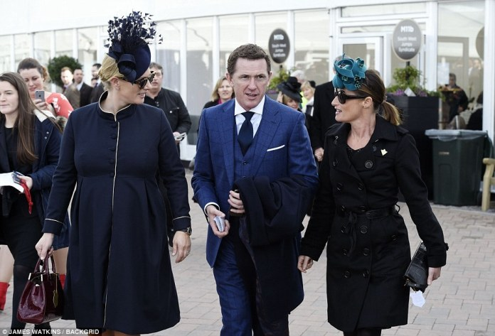 Today marked Zara's fourth visit to the festival, where she caught up with jockey AP McCoy