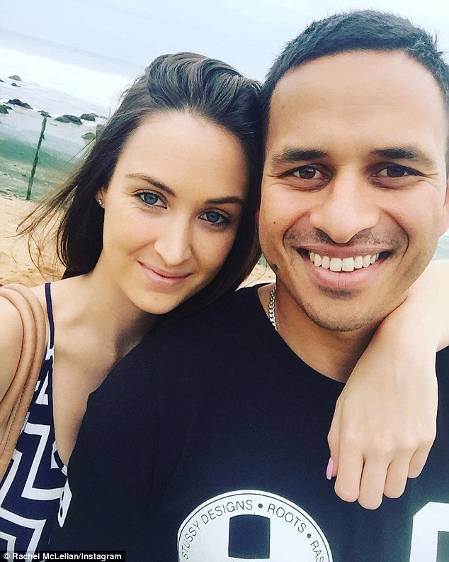 Rachel McLellan - the fiancée of Australian cricketer Usman Khawaja has spoken out about why she converted from Catholicism to Islam (pictured together)