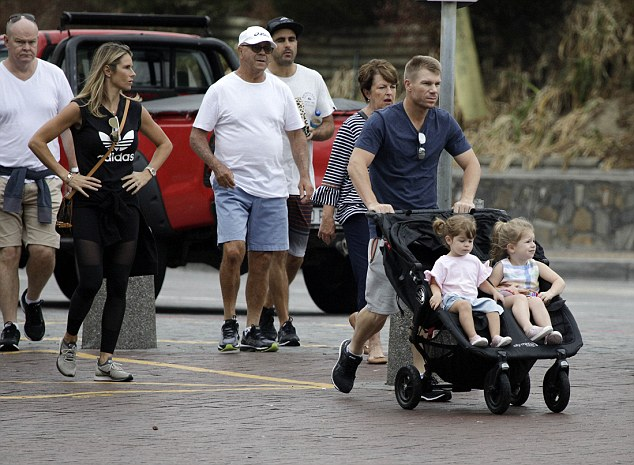 The Warner family ventured out for the first time in Cape Town after returning from a safari 2,000km away