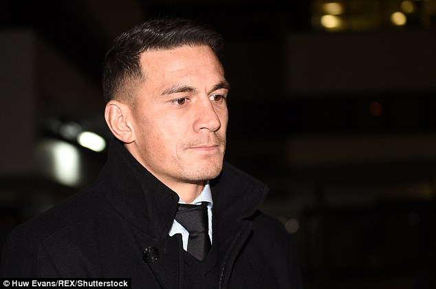 The coincidence was particularly awkward following Candice's toilet tryst with Sonny Williams (pictured) before she was with her cricket star husband, David