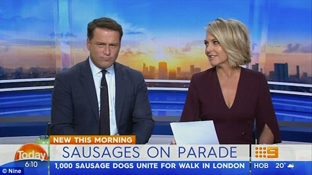 'Pathetic': A transcript of the conversation was later published in New Idea, which is owned by Seven West Media. After the magazine his newsstands, Georgie described Karl as 'pathetic' live on Today - although she was ostensibly talking about his phobia of dachshunds