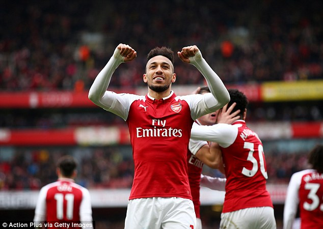Aubameyang has scored three goals in the six appearances he has made for Arsenal so far