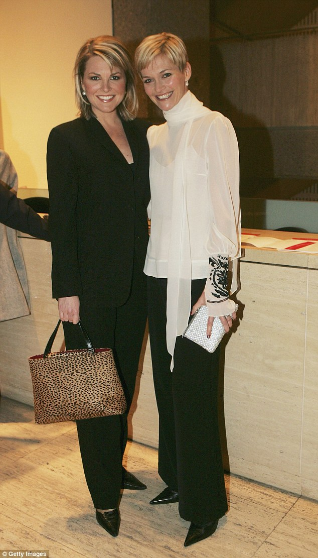 High praise: 'Georgie is an incredible journalist, she is not neutral about anything, she's strong, she's committed, she's passionate. I'm sick of blokes saying negative things about women,' Jessica said. She is pictured with Georgie (L) at the 'Women and Freedom' Photographic Exhibition and Auction on July 29, 2004 at the Art Gallery of New South Wales, in Sydney