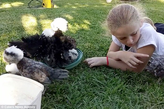 Summer Farrelly, who reads to her bird companions daily, says she reaps a range of benefits from it including character building, speech therapy and relaxation