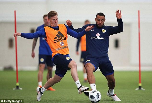 Matt Ritchie (left) and Matt Phillips battle for the ball ahead of Scotland's upcoming friendlies