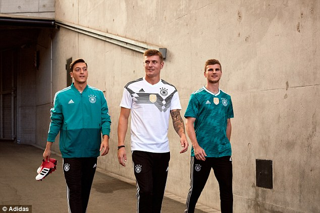 Adidas have gone back into their archives to design Germany's kits for the World Cup