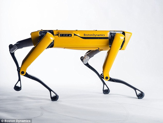 SpotMini, created by Massachusetts engineering firm Boston Dynamics, is the most advanced robot dog ever created. The canine can trot around, hold objects using an attachable arm, and even open doors by itself