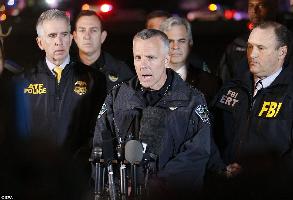 Police Chief Brian Manley said the dead man is behind five bomb explosions in Austin and a sixth device that was intercepted before it exploded, but police do not yet have a motive for the attacks