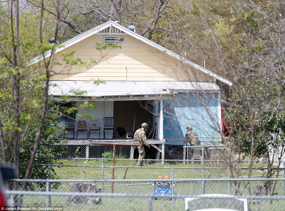 Police were spotted searching the home where Conditt lived with two others at about 1pm on Wednesday, fearing there could explosives there. They had also earlier evacuated the neighborhood and questioned his two roommates