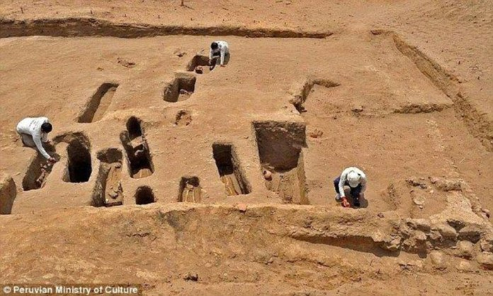 Ruins of a sanctuary used by the Inca to sacrifice children to their gods was discovered by archaeologists in at a coastal ruin complex in Peru in 2016. Experts digging at Chotuna-Chornancap (pictured), in north Lima, discovered 17 graves dating to at least the 15th century