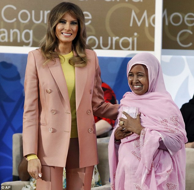 Melania Trump attended the 2018 International Women of Courage Award Ceremony at the State Department on Friday
