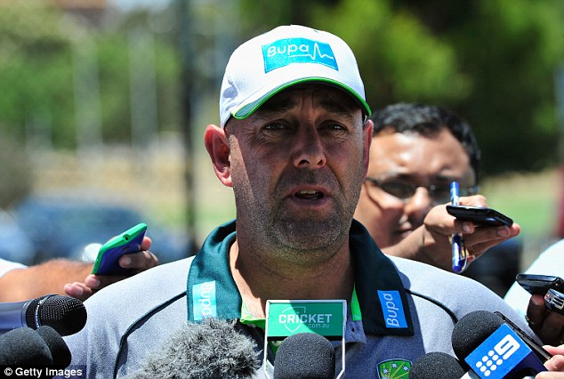 'I think it's been disgraceful,' Mr Lehmann (pictured) said during a press conference