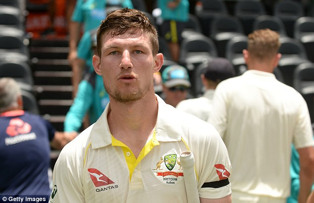 Bancroft was seen removing a small yellow item from his pocket and appearing to use it on the ball, before being pulled up by umpires moments later