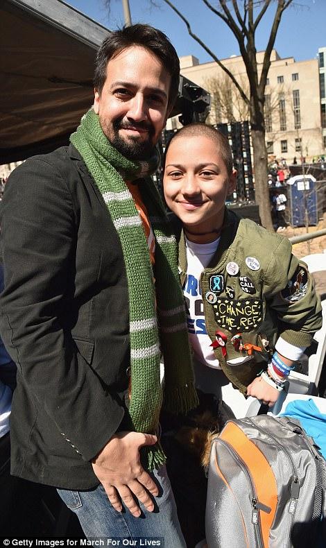 Lin-Manuel Miranda and Emma Gonzalez