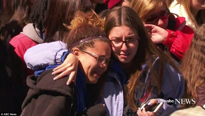 Teens cry as at a rally in DC as Samantha Fuentes sings 'Happy Birthday' in honor of a Parkland school victim who would have turned 18 on Saturday