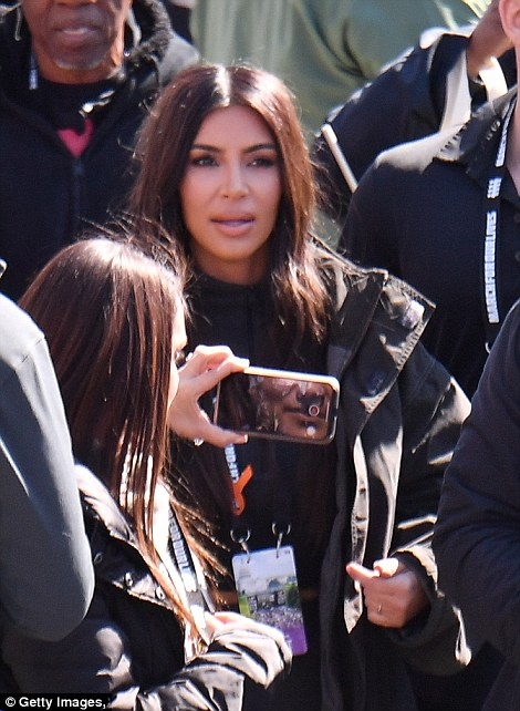 Later on Twitter the beauty mogul and reality star wrote: 'I'm so happy I got to share this moment with these two [Kanye and North]. I hope North remembers this forever'