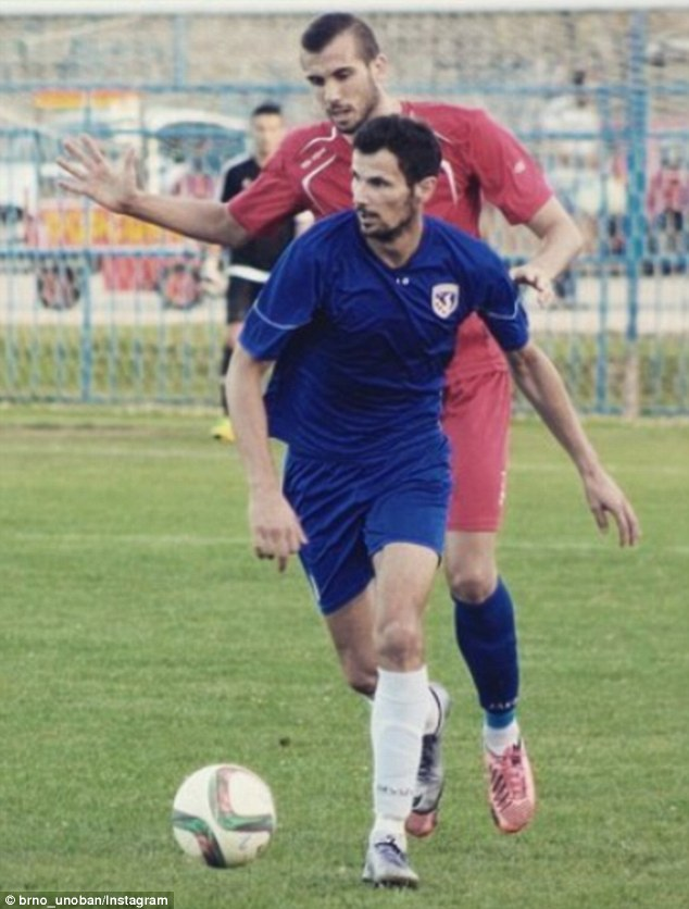 Boban, who played for Marsonia in his homeland, was the leading marksman in the third tier (pictured in blue)