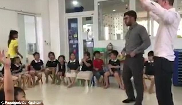A teaching duo from Liverpool gave Vietnamese children the ultimate English lesson - by teaching them to talk like a scouser
