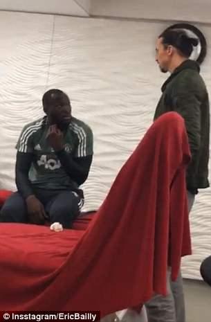 Ibrahimovic talks with Romelu Lukaku
