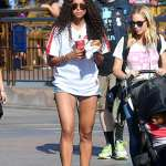 Ciara and Kids Spotted in Disneyland