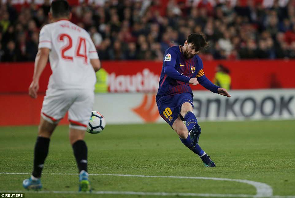 Messi was introduced as a second-half substitute for Barcelona and scored the all-important equaliser in the 89th minute