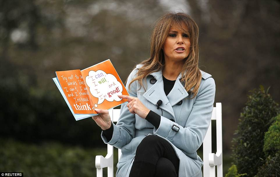 First lady Melania Trump read a book to children during Monday's White House Easter Egg Roll, the second of such events she's put on