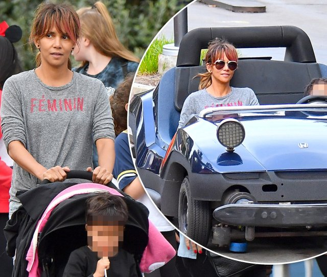 Halle Berry 51 Is Doting Mum As She Enjoys Magical Day Out With Her Son Maceo 4 At Disneyland Daily Mail Online