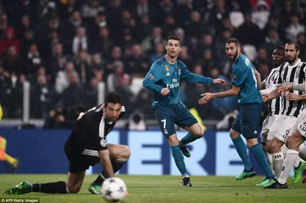 Juventus 0-3 Real Madrid: Cristiano Ronaldo nets overhead ...