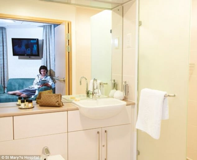 In the Lindo Wing, parents-to-be are given a bespoke experience akin to a five-star hotel with en suite rooms available (pictured in stock image) 'providing a modern, homely environment in which to start your new or expanded family life', the unit's website states