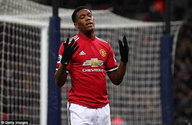 Anthony Martial has grown frustrated by a lack of game time at Manchester United